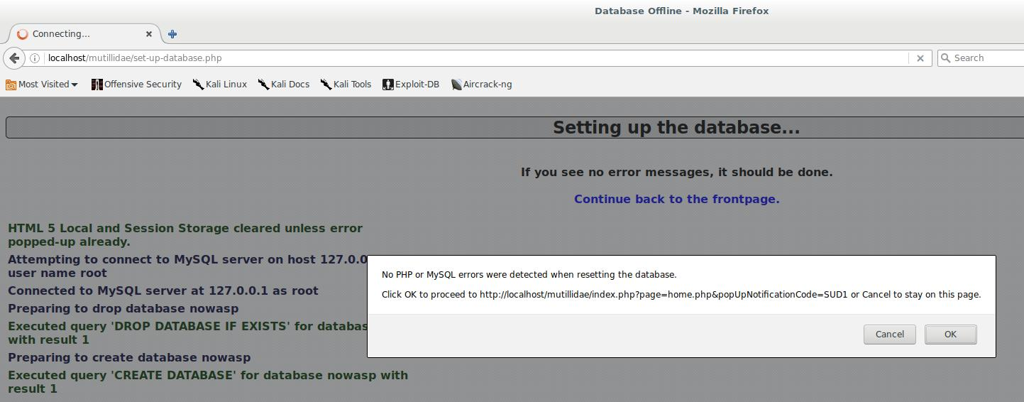 How to install OWASP Mutillidae II and Damn Vulnerable Web