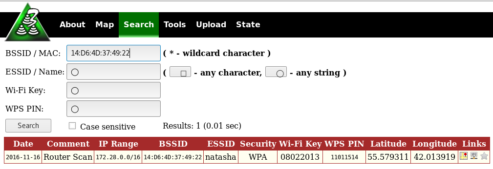 3WiFi: open database of Wi-Fi Access Points passwords - Ethical