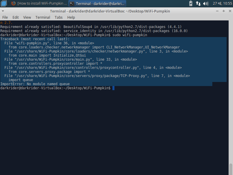 How to install WiFi-Pumpkin in Linux Mint or Ubuntu - Ethical