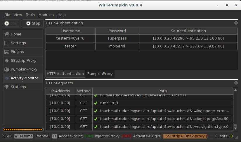WiFi-Pumpkin: Rogue Wi-Fi Access Point Attack with GUI and rich